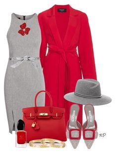 Vermell i Gris by nuria-pellisa-salvado on Polyvore featuring moda, Rochas, Hermès, Cartier, rag & bone, Dolce&Gabbana and Giorgio Armani