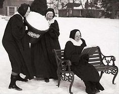Nuns in the snow