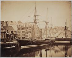 Imperial yacht, France, 1856. Photographer Gustave Le Gray