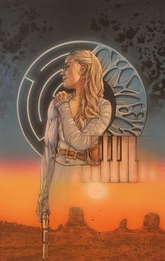 Dolores of WestWorld. Art by saintworksart.