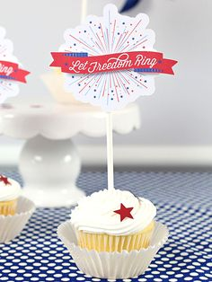 """Star-spangled sweetness for all! Celebration Shoppe's cupcake toppers look like the night's main Patriotic attraction. """"Meet the Maker"""": Celebration Shoppe – 4th of July -  