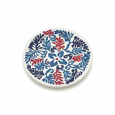 "Vinca Blue 7.75"" Melamine Plate"