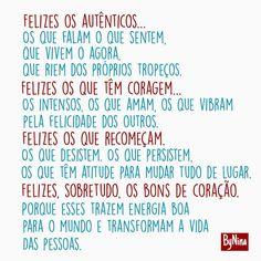 """3,184 curtidas, 43 comentários - ByNina (Carolina Carvalho) (@instabynina) no Instagram: """"Felizes os autênticos... Os que falam o que sentem, que vivem o agora, que riem dos próprios…"""""""