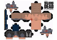 The Walking Dead papercraft