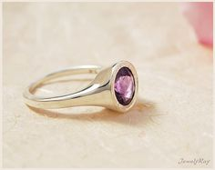 engagement ring. purple gemstone ring. amethyst ring. by JewelyRay, $100.00