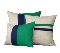 Colorblock Stripe Pillow Cover Set - Pastel Pink & Cream Striped Linen Pillow and Colorblock Pillows by JillianReneDecor (Set of Colorblock Stripe Pillow Set - Teal & Navy Striped Pillow and Color Block Pillow Set by JillianReneDecor (Set of Yellow Pillow Covers, Yellow Pillows, Cushion Covers, Neutral Cushions, Navy Pillows, Linen Pillows, Linen Bedding, Decorative Pillows, Throw Pillows