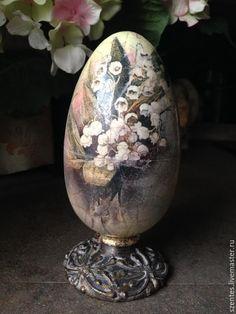 Купить Пасхальное яйцо-шкатулка - комбинированный, пасхальное яйцо, пасха 2017, пасхальное яйцо декупаж