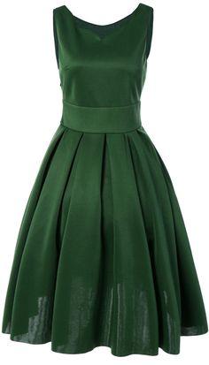 $15.16 Vintage Sweetheart Neck Sleeveless Dress