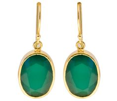 Green Chalcedony Sterling Silver Oval Drop Earrings by RalphTaylorDesigns on Etsy Fine Jewelry, Jewellery, Green And Gold, Drop Earrings, Sterling Silver, Etsy, Jewelery, Jewelry Shop, Jewlery