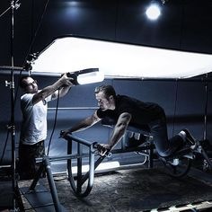 An awesome BTS shot, for a film poster for Tron Legacy! via @marcogrob : ・・・ BTS/ TRON LEGACY | Assistants Paul Abell and Rene Gomez on Set with the motor cycle rig I work a lot with hand held lights. Makes everything easier...#tronlegacy #photooftheday #officialhasselblad #photography #bts #behindthescenes #creativity #photographer #filmcrew #photocrew #storyteller #cinematographer #setlife #inspiration #creativity #creative #worklife