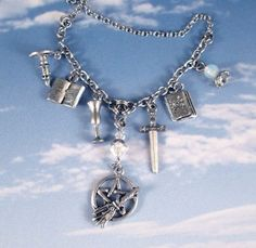 Wiccan Goddess of Protection | Altar Goddess Silver Charms Wiccan Necklace Protection Pentacle ...