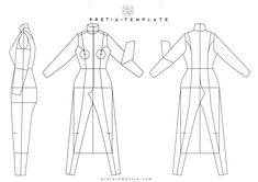 Technical Woman body figure fashion template (D-I-Y your own Fashion Sketchbook)