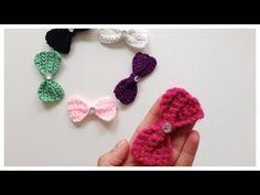 Como tejer un Moño o corbata de moño en #Crochet - YouTube