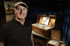 Barry Clifford stands next to a display case containing silver coins recovered from the wreckage of the Whydah Gally at the Whydah Pirate Museum. He says his expedition recently located a large metallic mass that he's convinced represents most if not all of the 400,000 coins and other riches believed to be on the ship  Read more: http://www.dailymail.co.uk/news/article-3827101/Explorer-claims-hes-located-famous-pirate-ships-treasure.html#ixzz4Mbv91Dq6 Follow us: @MailOnline on Twitter…
