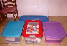 Ahora si, todo el caos encerrado en algunas cajas de colores.