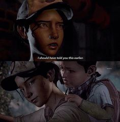 """clementine and AJ in the""""Walking dead a new Frontier"""" trailer"""
