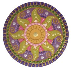 zöld-lila Napmandala green-purple Sunmandala