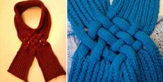 Celtic knot knitted looped scarf | the knitting space