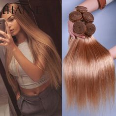 Good quality golden hair  weave, Buy Quality hair findings directly from China weave length Suppliers:HANNE Colorful Hair