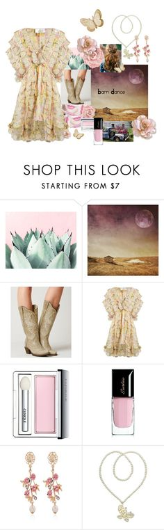 """barn dance"" by nisha-naenae ❤ liked on Polyvore featuring Corral, Anastasia Beverly Hills, Zimmermann, Clinique, Guerlain, WithChic and Kate Marie"