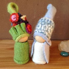 Summer and Winter Gnomes by Juniper Hollow Gnomes on Etsy