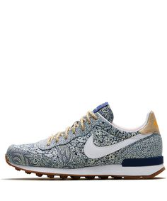 So PISSED I missed these!... Nike x Liberty Blue Internationalist Trainers | Shoes by Nike x Liberty | Liberty.co.uk