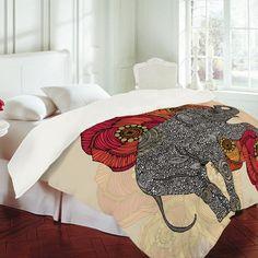 Elephant bed spread.