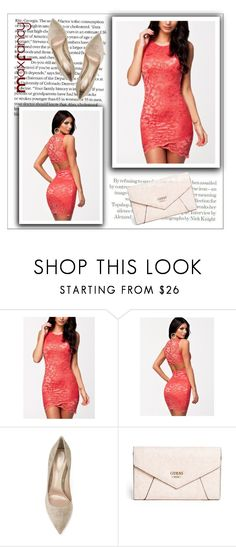 """""""Sexy Sleeveless Dress - MaxFancy"""" by maxfancy ❤ liked on Polyvore featuring Topshop, Gianvito Rossi, GUESS and polyvoreeditorial"""