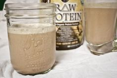 """I like to mixthis protein powderwith almond milk and ice to make a simple """"chocolate malt."""" It is SO GOOD. Add chia seeds and spinach, and..."""