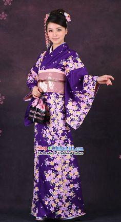 Purple yukata