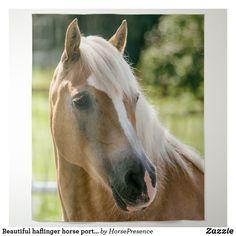 Beautiful haflinger horse portrait tapestry