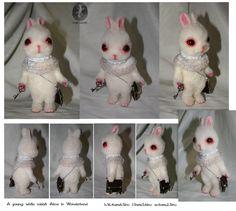 A young white rabbit by Ynik-name.deviantart.com on @deviantART