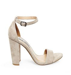 Suede & Leather Ankle Strap Heels | Steve Madden CARRSON