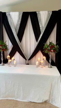 Silver Wedding Decorations, Prom Decor, Diy Wedding Backdrop, Christmas Door Decorations, Ceremony Decorations, Birthday Decorations, Church Decorations, Bedroom Red, Bedroom Colors
