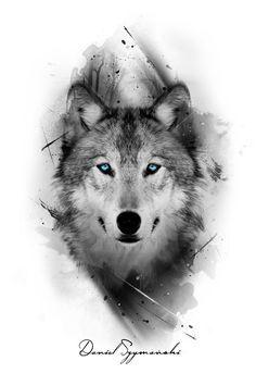 I really like the color only being in the eyes grey tattoo, wolf eye tattoo Wolf Tattoos Men, Animal Tattoos, Tattoo Wolf, Wolf Tattoo On Back, Wolf Tattoo Sleeve, Arrow Tattoo, Inca Tattoo, Female Tattoos, Wolf Tattoo Design