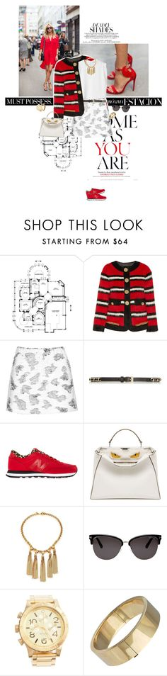 """""""Notice the red."""" by sa3ina ❤ liked on Polyvore featuring Pippa, Marc Jacobs, Givenchy, Topshop, New Balance, Fendi, House of Lavande, Tom Ford, Nixon and Tiffany & Co."""