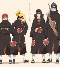Sasori, Deidara, Itachi and Kisame