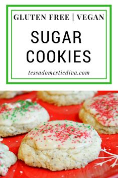 Gluten Free - Vegan Sugar Cookies #glutenfree #vegan #sugarcookies #christmascookies #glutenfreesugarcookies #glutenfreechristmascookies #glutenfreevegan