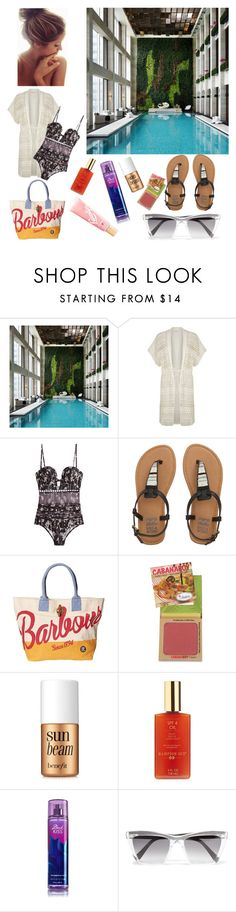 """""""Summer Resort - Swimming pool"""" by navyasingh ❤ liked on Polyvore featuring Gottex, Zimmermann, Billabong, Barbour, Benefit, Hampton Sun, Prism and Lano"""