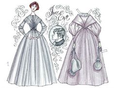 Jane Eyre paper dolls- drawn by Donald Hendricks... so enchanting!
