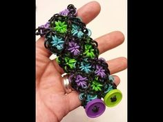 ONE loom Stained Glass Rainbow Loom Bracelet Tutorial - YouTube