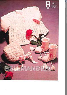 Bellmans 1381 Vintage knitting pattern, baby knitting pattern by DukehamDesigns on Etsy