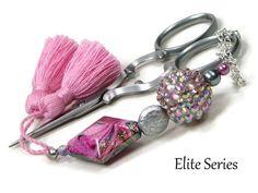 Scissor Fob Scissor Keeper Scissor Minder Elite Series Pink Sparkly Quilting Cross Stitch Needlepoint Sewing