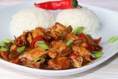 V kuchyni vždy otevřeno ...: Kuřecí nudličky na pivu a balsamiku Asian Recipes, Healthy Recipes, Ethnic Recipes, Salty Foods, No Salt Recipes, Kung Pao Chicken, Poultry, Food To Make, Food And Drink