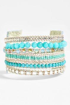 Nakamol Beaded Cuff Bracelet