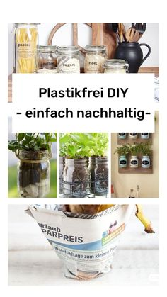 3 DIY tips and tricks for your home l Plastic-free and sustainable – Organisation Zuhause – craftsoxo Tank Top Storage, My First Apartment, Garden Tool Storage, Diy Nightstand, Making Life Easier, Jam Jar, Built In Wardrobe, Jar Storage, Indoor Garden
