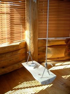 Thinking about installing an indoor house swing in your home? Check out our pictures and articles for tips and inspiration on indoor house swings. Swing Seat, Porch Swing, Front Porch, Indoor Swing Set, Wooden Swings, Outdoor Spaces, Outdoor Decor, Outdoor Ideas, Other Rooms
