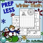 PREP LESS Kindergarten Winter Math {Over 25 Activities}