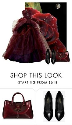 """""""Rose"""" by arrow1067 ❤ liked on Polyvore featuring Hogan and Yves Saint Laurent"""
