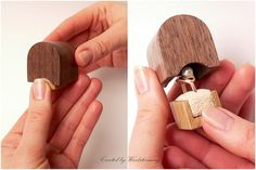 Small Engagement Ring Box - Handmade, Original Woodstorming Design - Ready To…